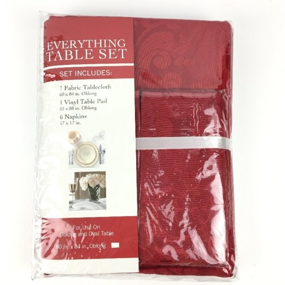 Miraculous Everything Table Fabric Tablecloth Napkins Pad Set Nwt Download Free Architecture Designs Momecebritishbridgeorg